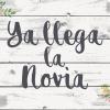 """Cartel """"Aquí viene la novia"""""""
