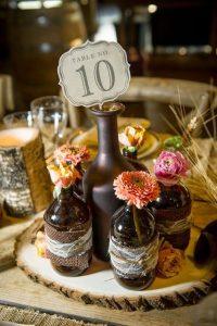 centro mesa boda rustica