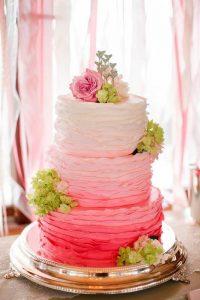 tarta color degradado rosa