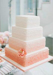 tarta nupcial blanco rosa