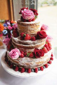 tarta frambruesas y rosas