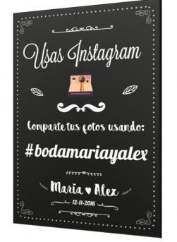 cartel boda hashtags
