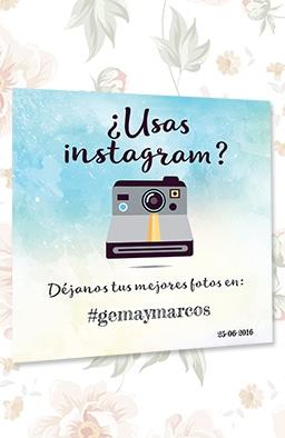 Cartel personalizado hashtag