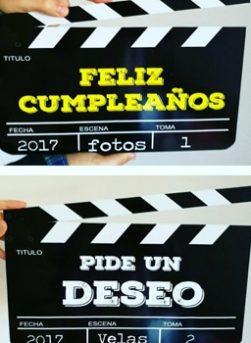 Pack Claqueta cumpleaños